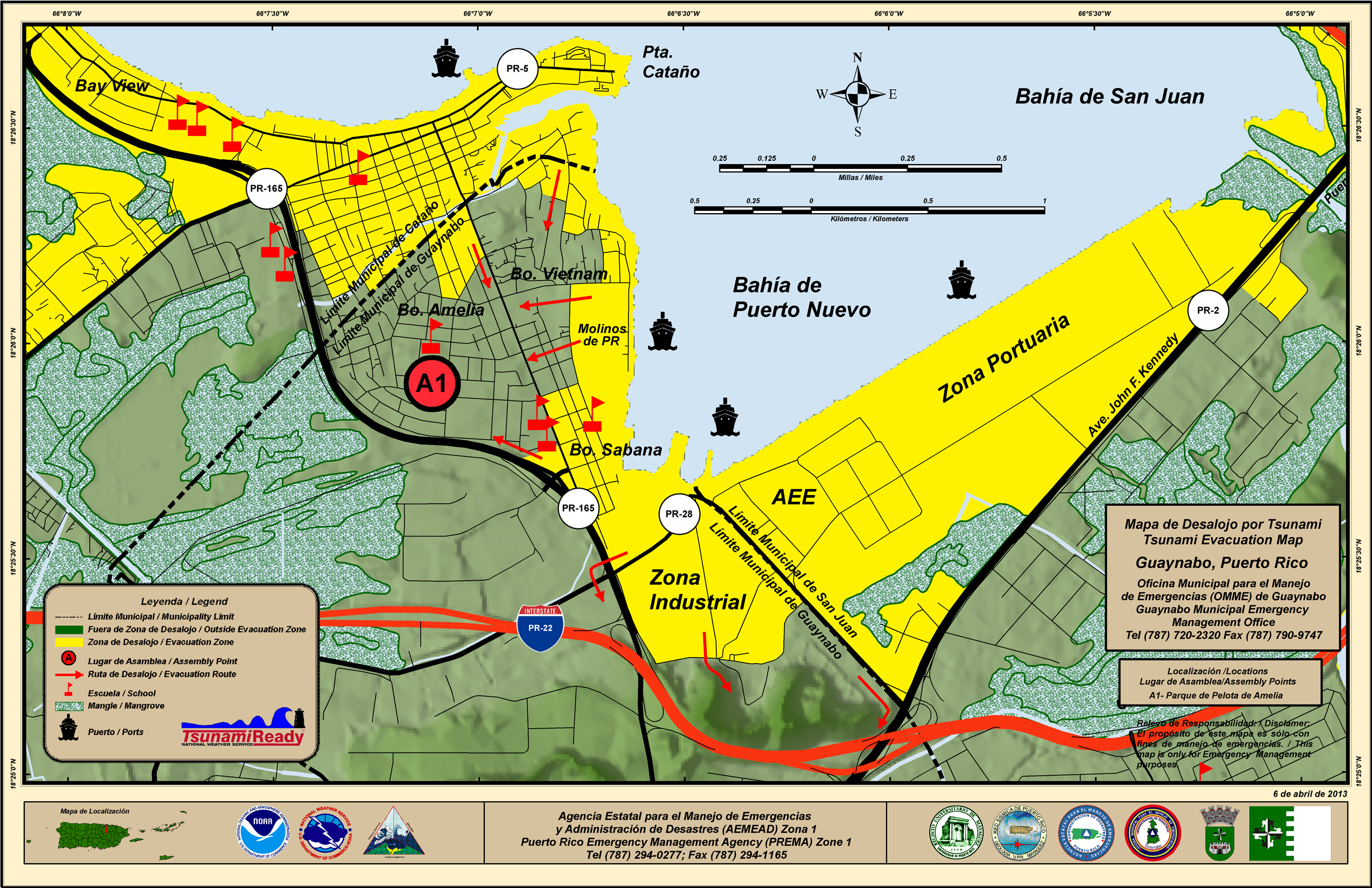 Evacuation Plan - Guaynabo map